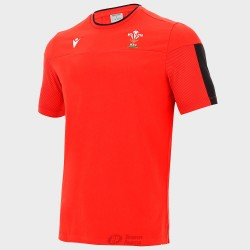Camiseta Macron Gales travel polycotton rojo