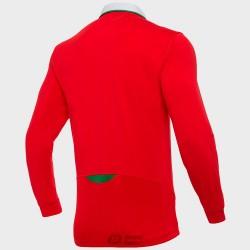 Polo Macron Gales home cotton ls rojo espalda