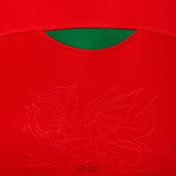 Polo Macron Gales home cotton ls rojo detalle