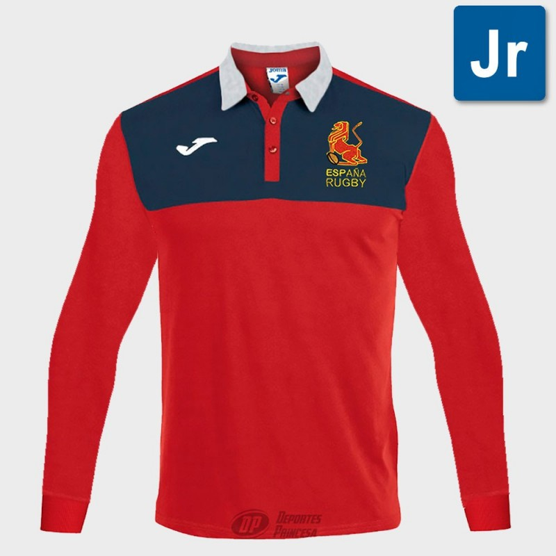 Polo Joma España Rugby supporter red ls junior
