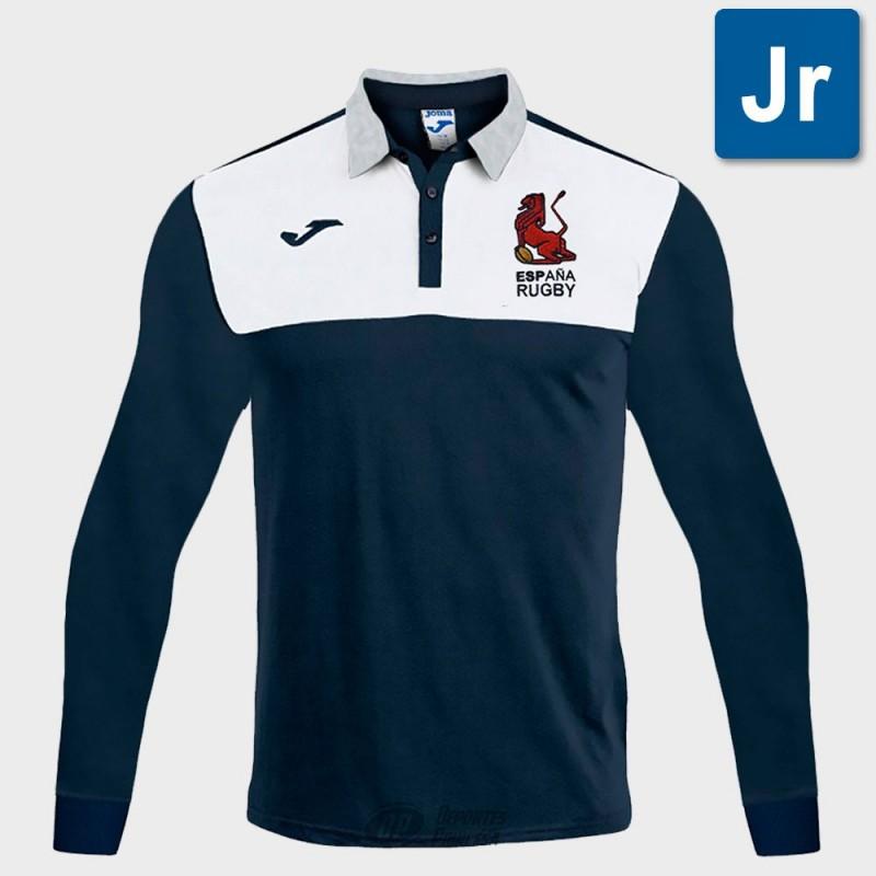 Polo Joma España Rugby supporter ls junior marino