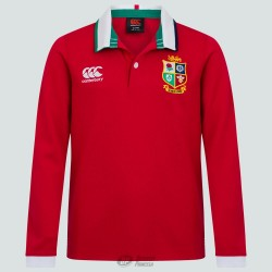 Polo clásico Canterbury British & Irish Lions ls rojo