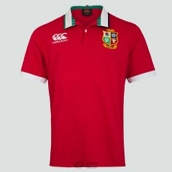 Polo clásico Canterbury British & Irish Lions ss rojo