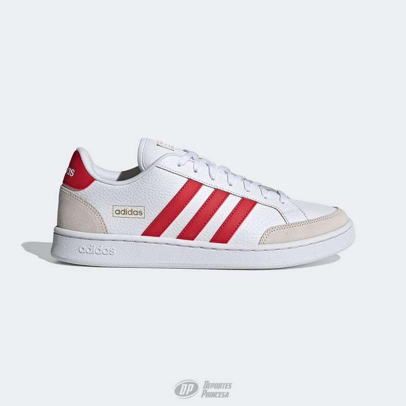 Zapatillas Adidas Grand Court blanco-rojo