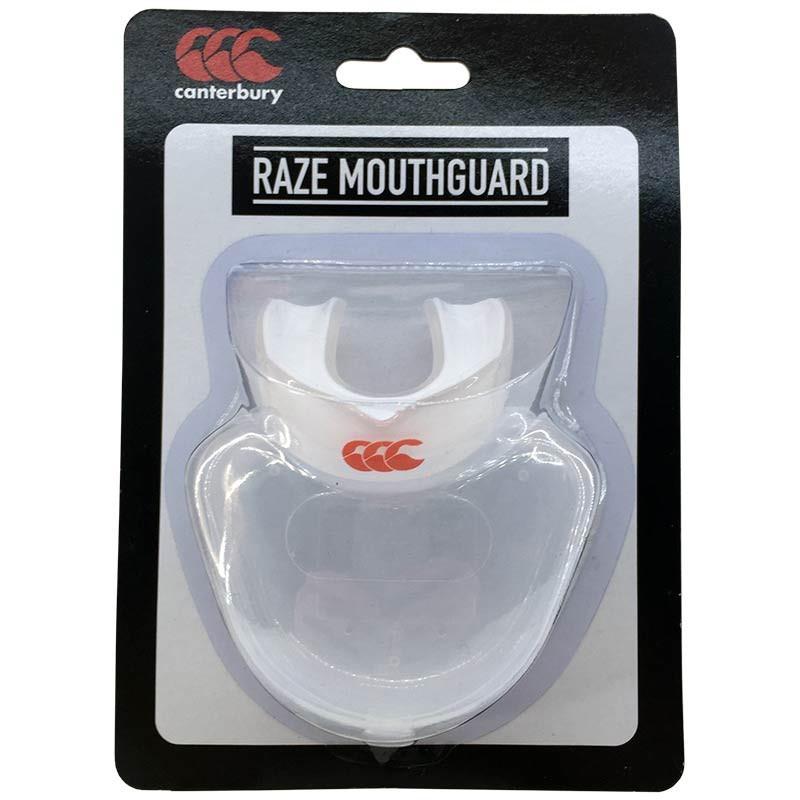 Protector bucal Canterbury Raze senior transparente/blanco