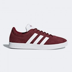 Zapatillas Adidas VL COURT 2.0 granate-blanco
