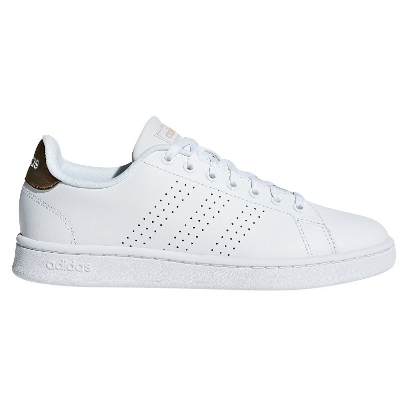 Zapatillas Adidas ADVANTAGE blanco-dorado