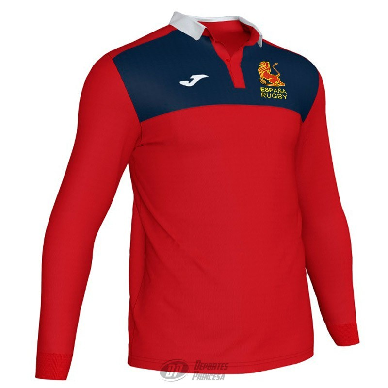 Polo Joma España Rugby travel red ls