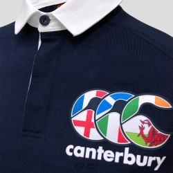 Polo rugby Canterbury Seis Naciones ls marino