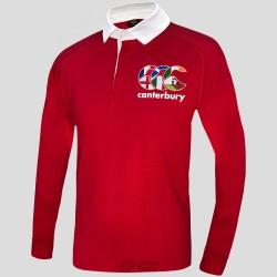 Polo rugby Canterbury Seis Naciones ls rojo